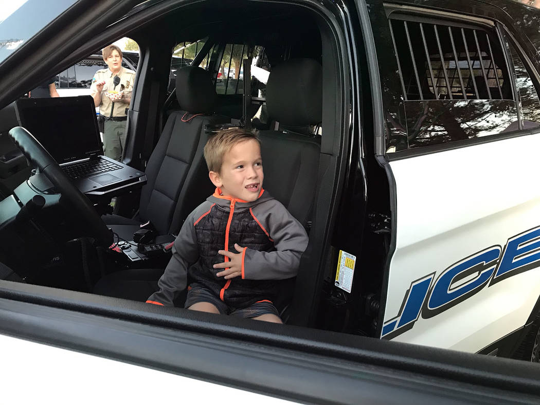 (Hali Bernstein Saylor/Boulder City Review) Grady Jensen, 5, who hopes to become a police offic ...