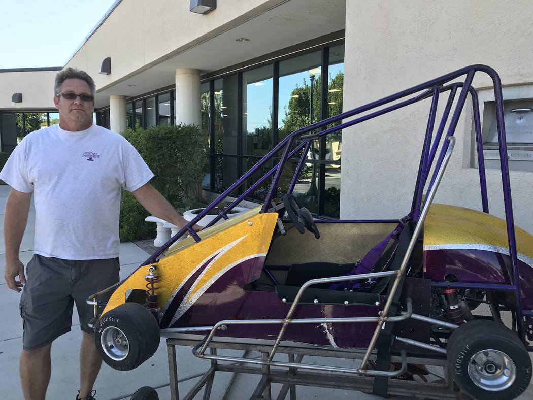 (Hali Bernstein Saylor/Boulder City Review) Bob Martin brought a quarter midget race car to the ...