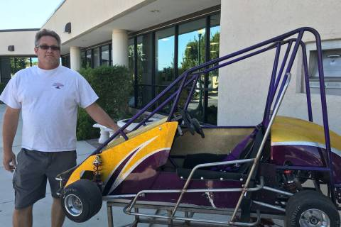 (Hali Bernstein Saylor/Boulder City Review) Bob Martin brought a quarter midget race car to the ...