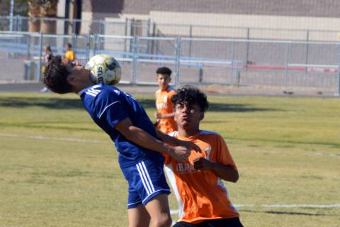 Celia Shortt Goodyear/Boulder City Review Boulder City High School junior Adam Leavitt traps th ...