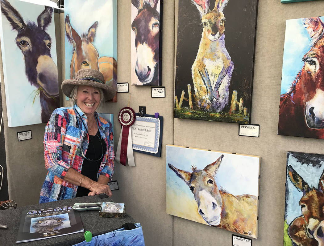 (Hali Bernstein Saylor/Boulder City Review) Brenda Peo, featured artists for the 2019 Art in th ...