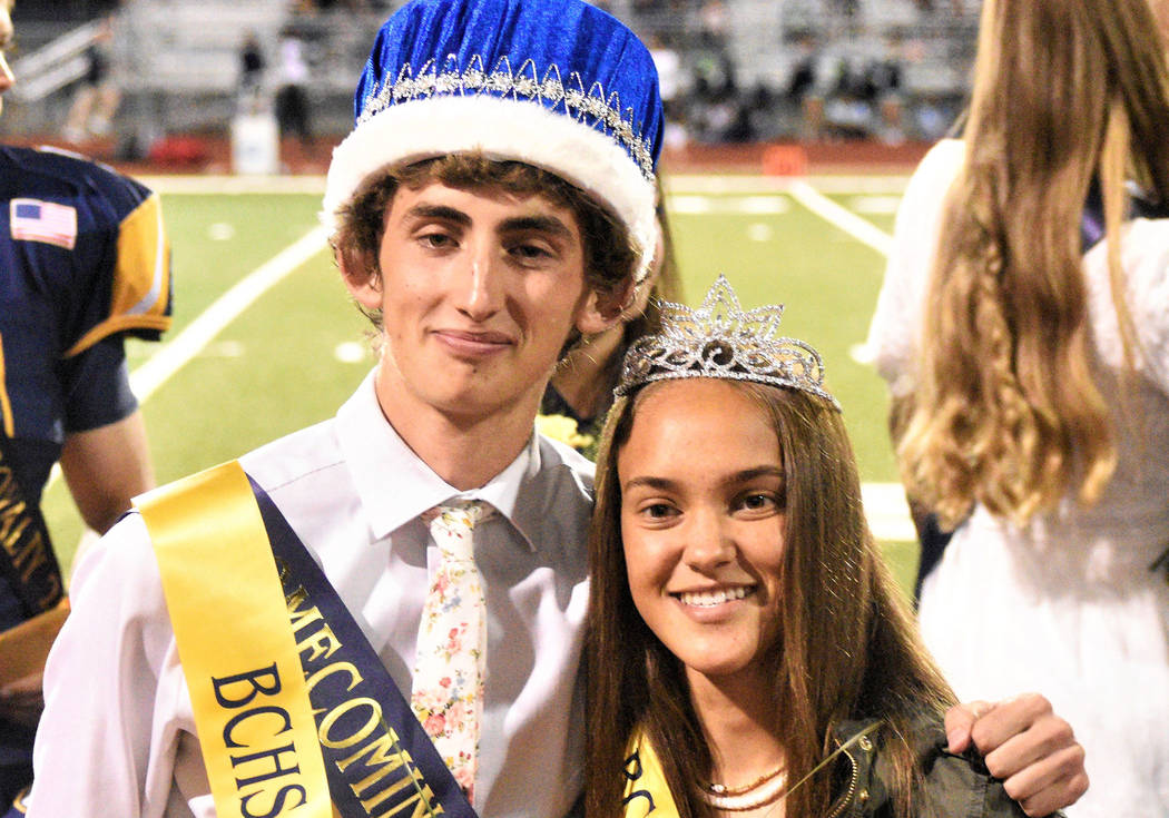 Robert Vendettoli/Boulder City Review Boulder City High School seniors Mason Hood and Keely Ale ...
