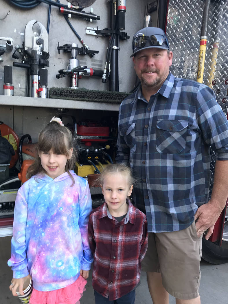 (Hali Bernstein Saylor/Boulder City Review) The Keller family of Boulder City, from left, Lucil ...