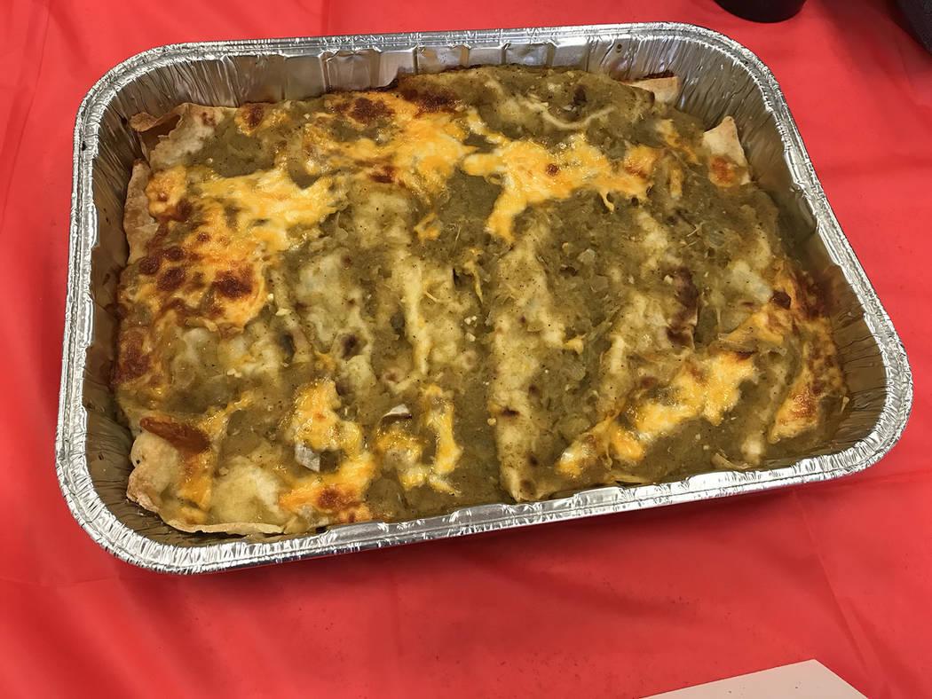 (Hali Bernstein Saylor/Boulder City Review) Austen Brown's green chili enchiladas won fi ...
