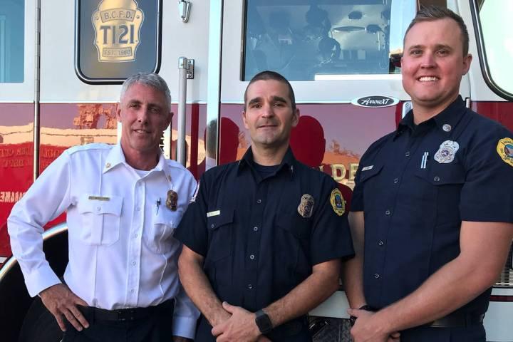 (Hali Bernstein Saylor/Boulder City Review) Boulder City Fire Department interim Chief Steve Wa ...