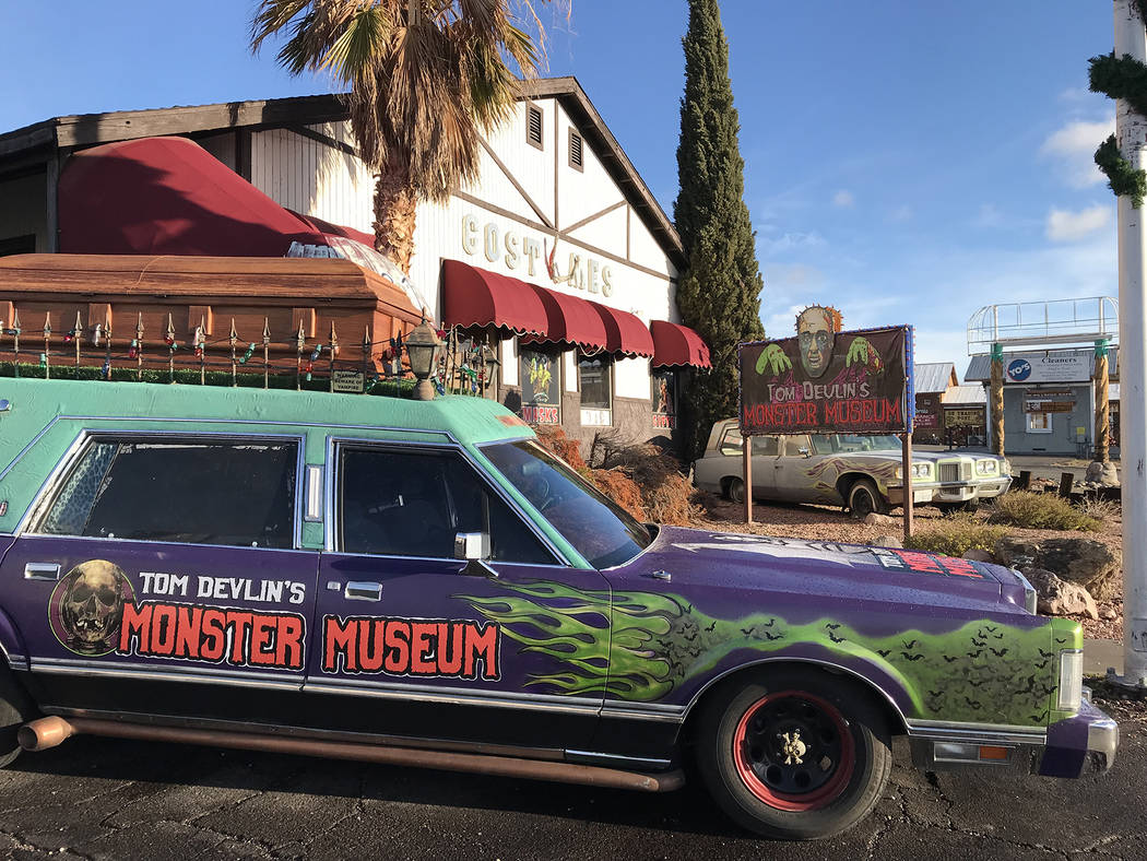 Tom Devlin's Monster Museum at 1310 Boulder City Parkway, is observing Halloween with flashligh ...