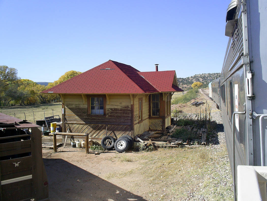 (Deborah Wall) The ghost town of Perkinsville marks the turn-around point of the excursion on t ...