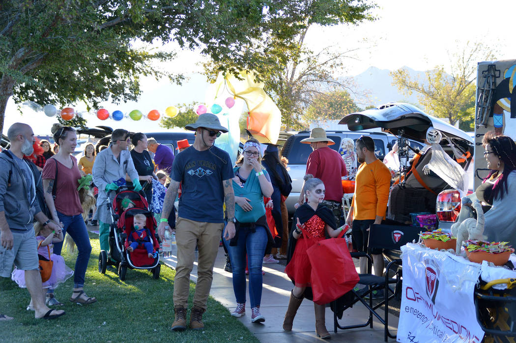 Celia Shortt Goodyear/Boulder City Review Veterans' Memorial Park was filled with children and ...