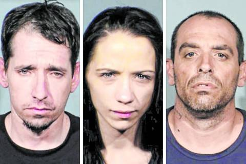 (Boulder City Police Department) Robert Mestas (from left), Clara Power and Gordon Knighton