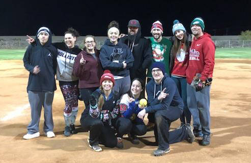 (Kelly Lehr) Last year's fall coed softball champions, T.Q. Pallets, in Boulder City Parks an ...