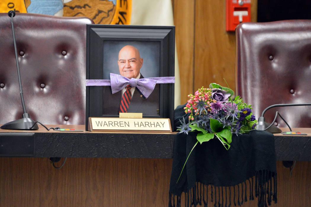 Celia Shortt Goodyear/Boulder City Review City Council honored the life Councilman Warren Harha ...