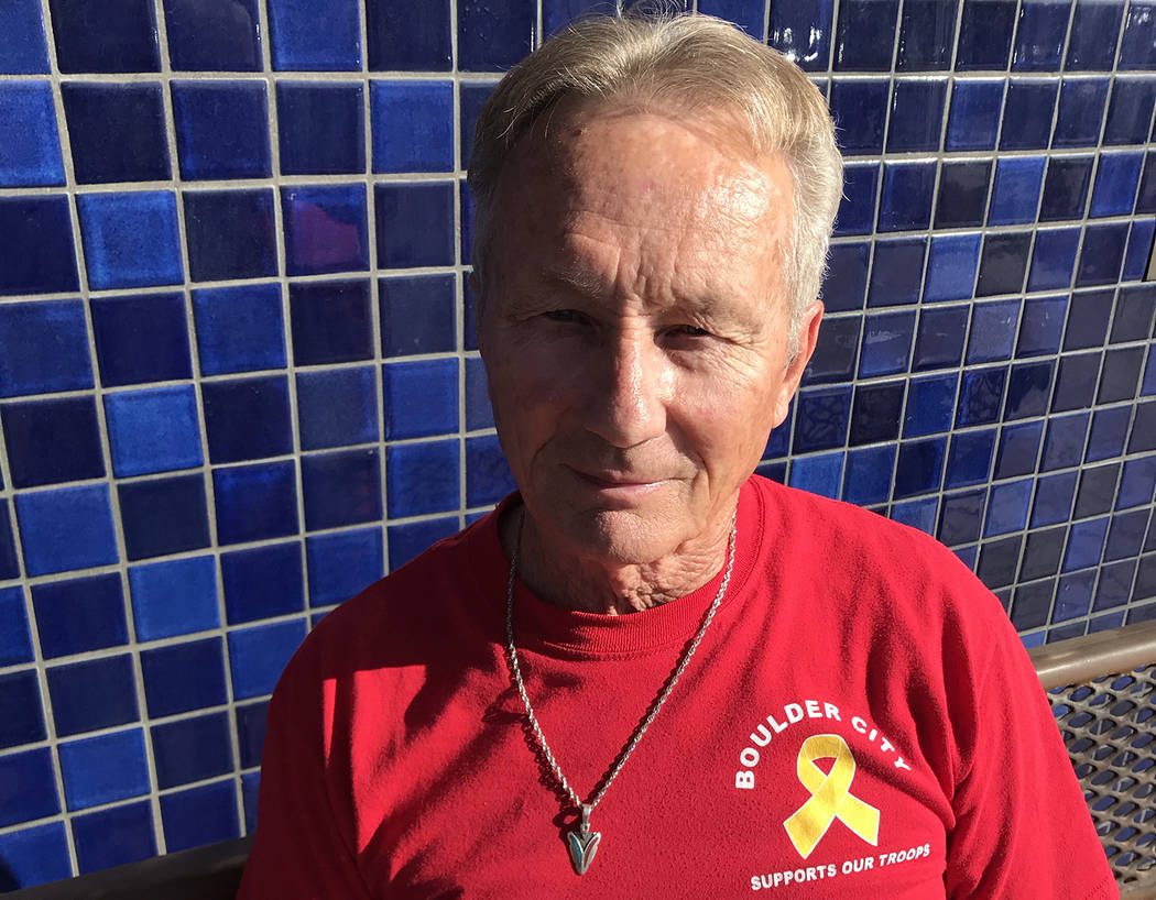 (Hali Bernstein Saylor/Boulder City Review) Boulder City resident Jerry Stewart served in the N ...
