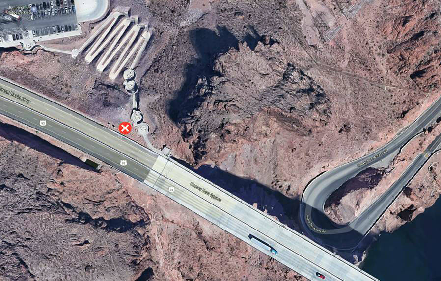 """Nevada Department of Transportation The """"x"""" shows the location of the new welcome to ..."""