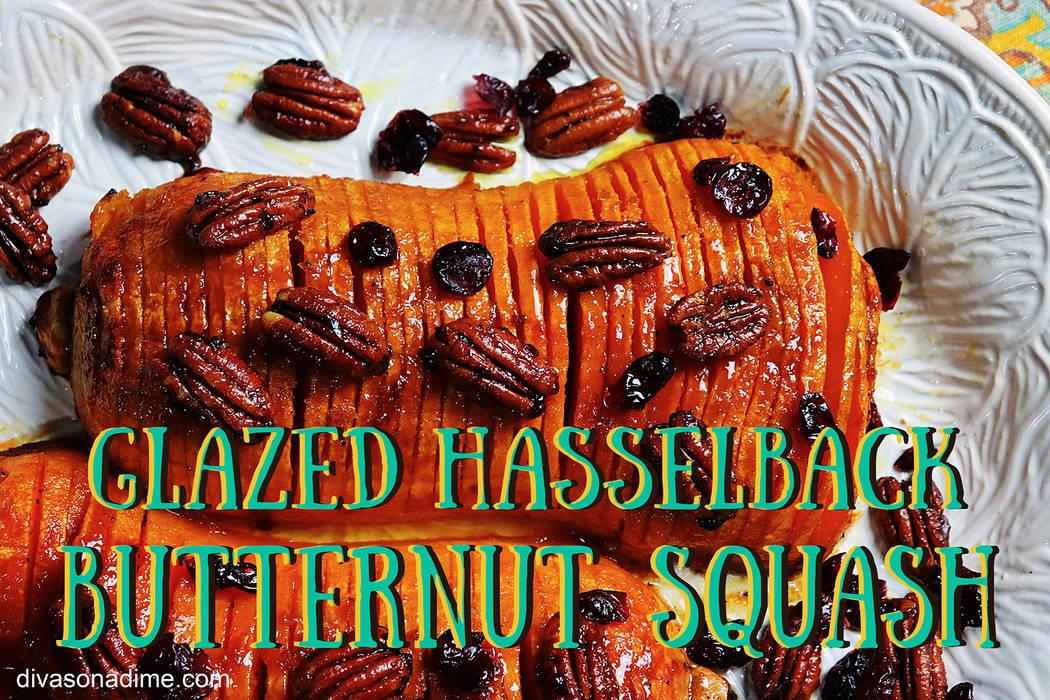 (Patti Diamond) Using the Hasselback technique to cut your butternut squash before glazing it w ...