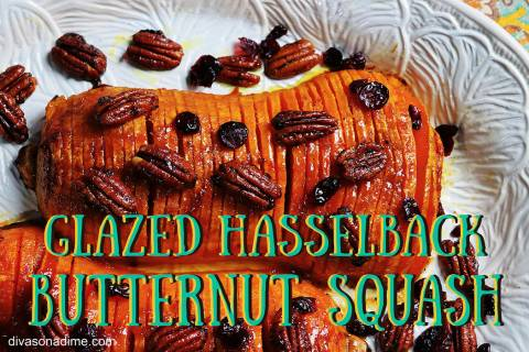 (Patti Diamond) Using the Hasselback technique to cut your butternut squash before glazing it w ...