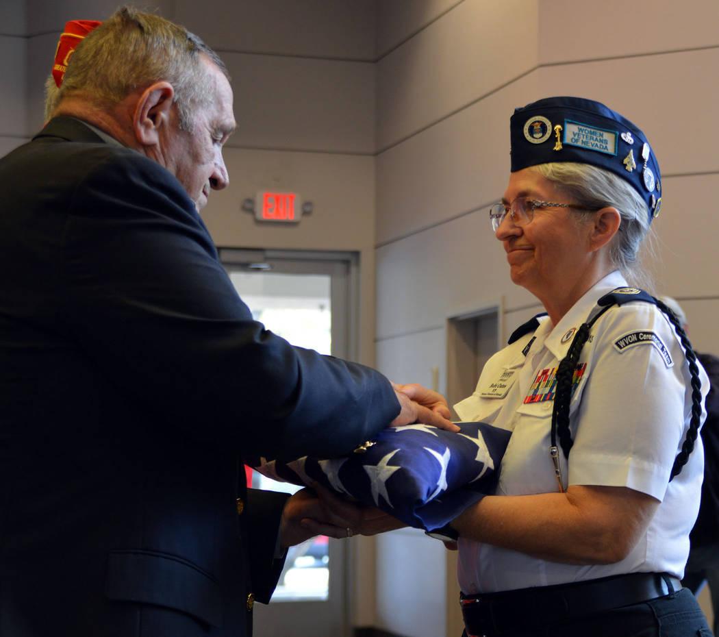 Celia Shortt Goodyear/Boulder City Review Ret. Lt. Gen. Emil Bedard of the United States Marine ...