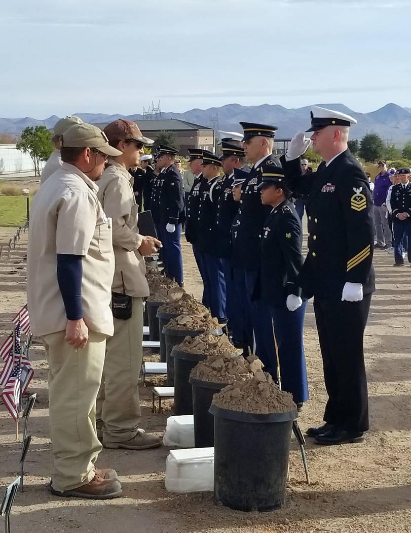 Celia Shortt Goodyear/Boulder City Review United States Navy Chief Yeoman Richard Goldsworthy, ...