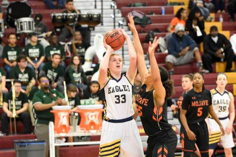 (Roberty Vendettoli/Boulder City Review) Boulder City High School senior forward Ellie Howard, ...