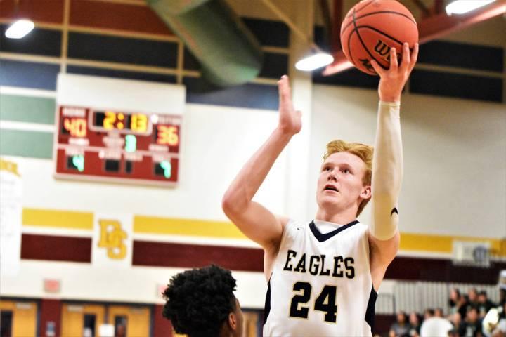 (Robert Vendettoli/Boulder City Review) Boulder City High School junior forward Matt Morton, se ...