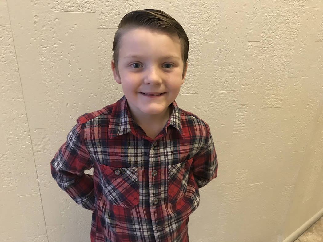 (Hali Bernstein Saylor/Boulder City Review) Seven-year-old Noah Whitney of Boulder City was ins ...
