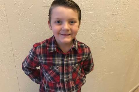 (Hali Bernstein Saylor/Boulder City Review) Seven-year-old Noah Whitney of Boulder City was ins ...