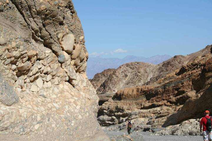 (Deborah Wall) Intersesting geological formations can be seen on a hike through Mosaic Canyon w ...