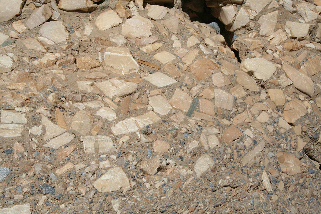 (Deborah Wall) Interesting geologic features can be found in Mosaic Canyon including the rock f ...