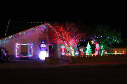 (Mike Pacini) The house at 653 Arroyo Way features a variety of lights and decorations includin ...