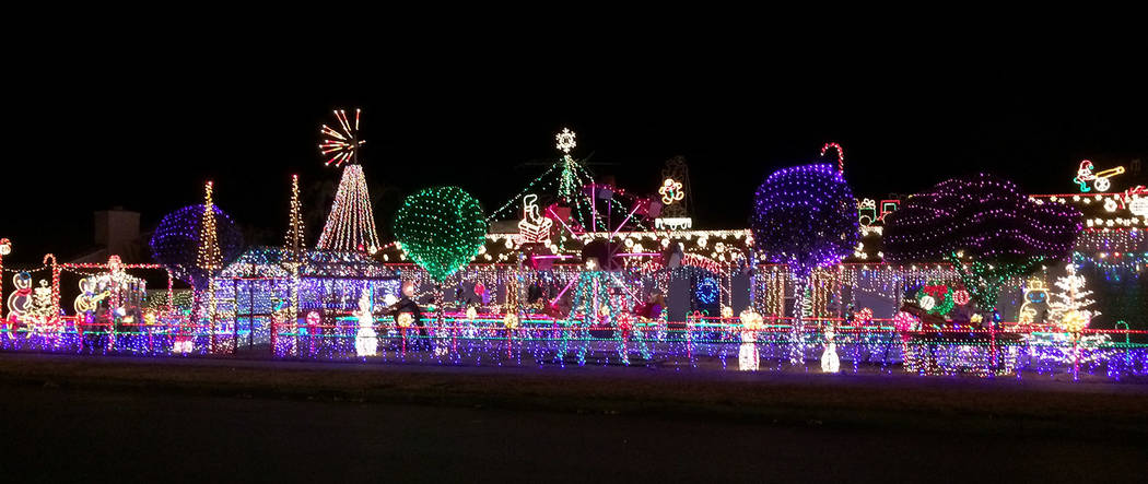 No holiday light tour in Boulder City would be complete without a visit to Dale Ryan and Dyanah ...