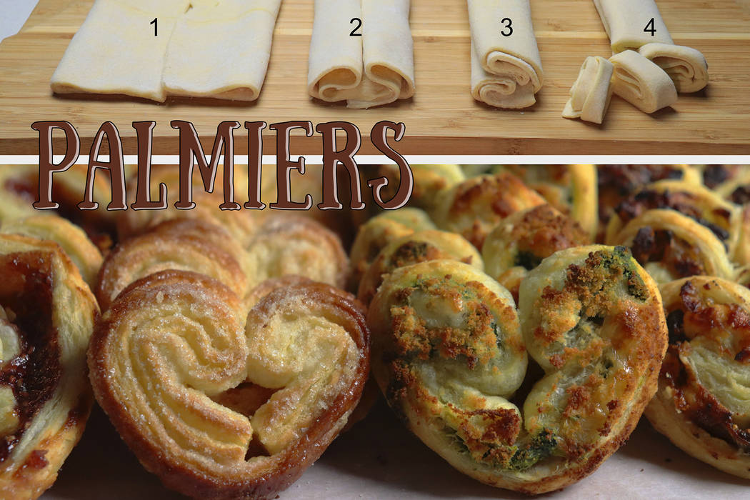 (Patti Diamond) A variety of sweet and savory fillings can be rolled into puff pastry and turne ...