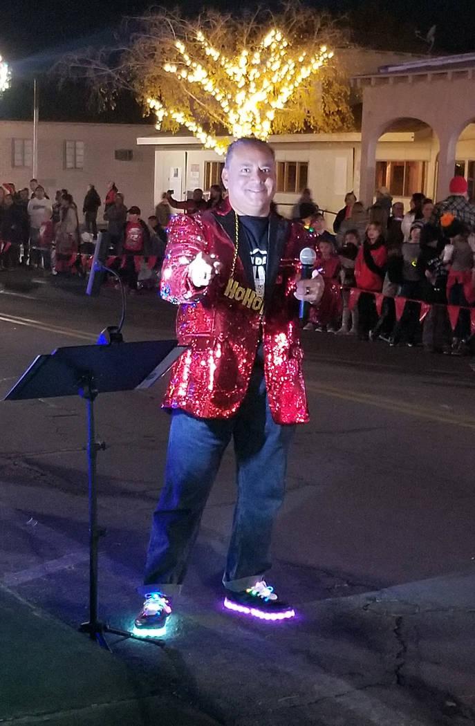 Celia Shortt Goodyear/Boulder City Review Mike Pacini, chairman of Santa's Electric Night Parad ...