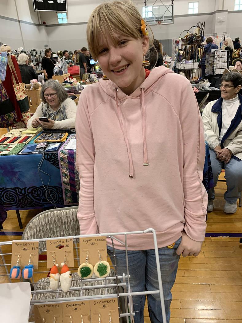 (Hali Bernstein Saylor/Boulder City Review) Arabella DiSanza, 12, of Henderson showcased the ea ...