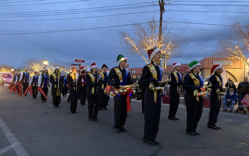 (Hali Bernstein Saylor/Boulder City Review) Boulder City High School's marching band add ...