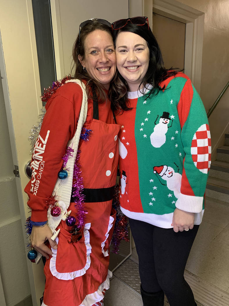 (Hali Bernstein Saylor/Boulder City Review) Brina Marcus, left, and Kassie Ackerson helped get ...