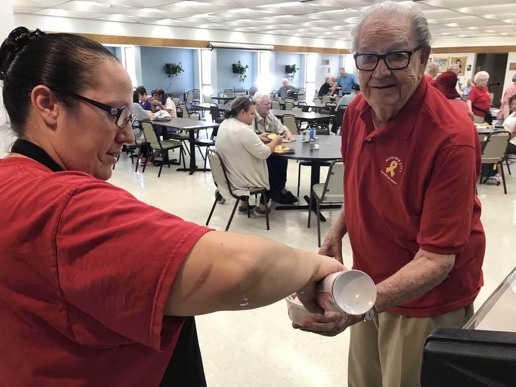(Hali Bernstein Saylor/Boulder City Review) At an ice cream social at the Senior Center of Boul ...