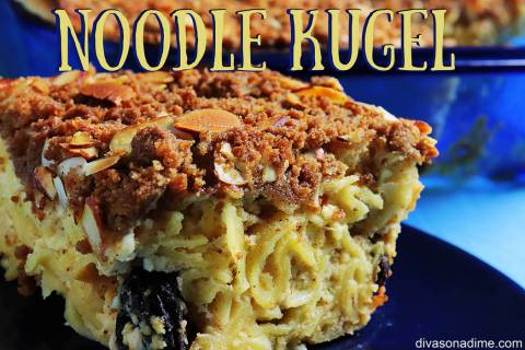 (Patti Diamond) This sweet custardy noodle kugel, a traditional Jewish holiday dish, can be ser ...