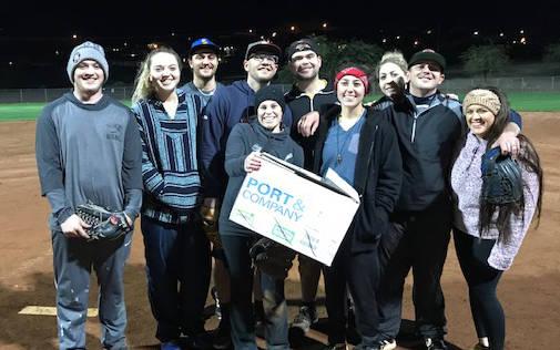 (Kelly Lehr) Members of Boulder Dam Brew Pub, from left, Aubrey Wrightsman, Bailey Bennett-Jord ...