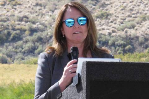 U.S. Bureau of Reclamation Commissioner Brenda Burman, seen at the September ground-breaking ce ...