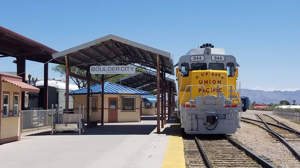 Celia Shortt Goodyear/Boulder City Review Officials with the Nevada State Railroad Museum, 601 ...