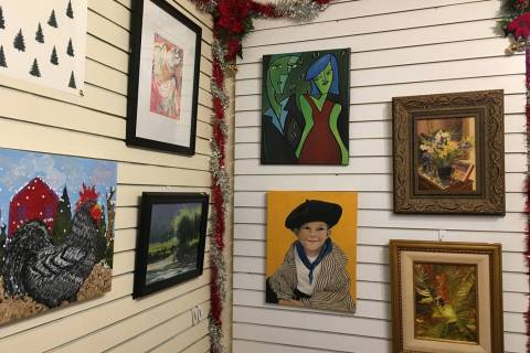 (Boulder City Art Guild) Works created by friends of Boulder City Art Guild members are being s ...