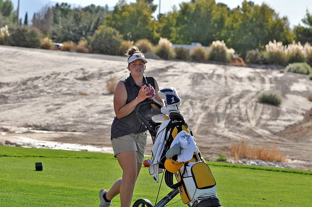 (Horace Langford Jr./Pahrump Valley Times) Boulder City High School senior Sydney Krumm is seen ...