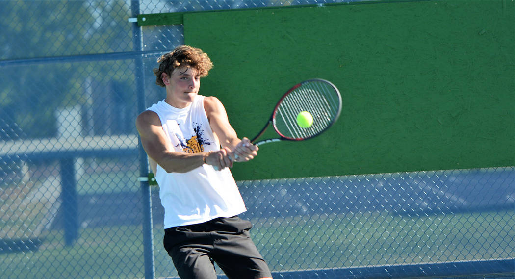 Senior Preston Jorgensen, seen during an August practice session, shared the 3A All-Southern Re ...