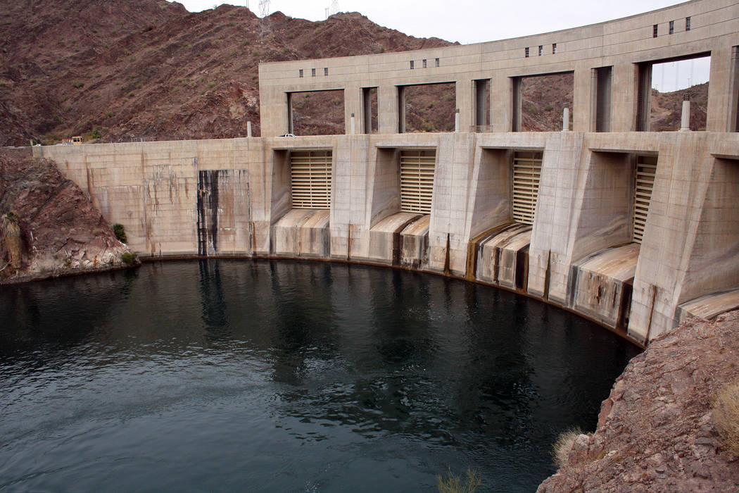 (Deborah Wall) The Parker Dam doesn't appear too impressive above the surface but is sai ...