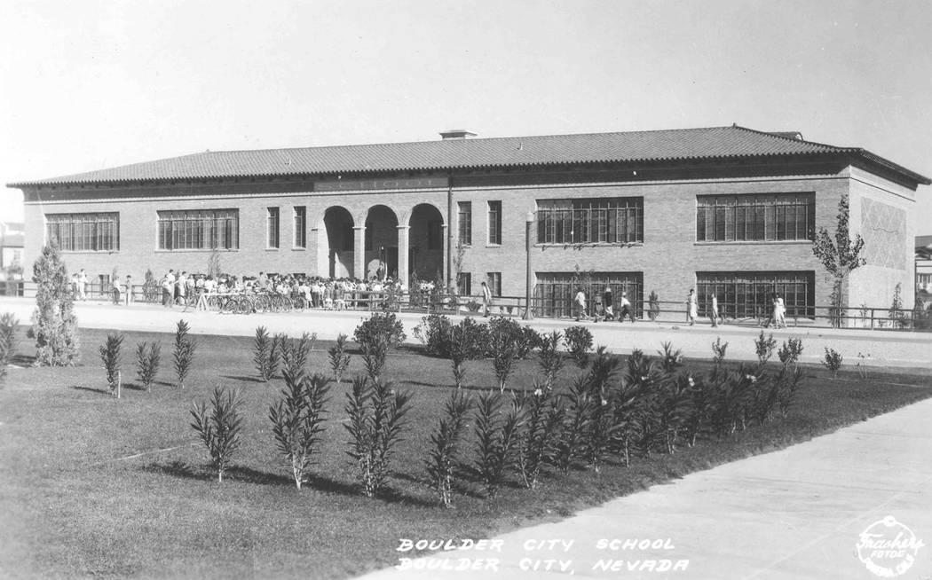 (Boulder City) Boulder City Elementary School at 401 California Ave. was built in 1932 by the B ...