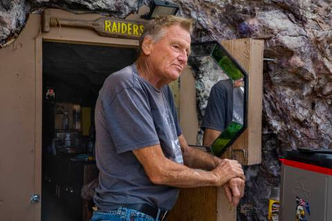 (L.E. Baskow/Las Vegas Review-Journal) Richard Roman has lived in a former mine in the hillside ...