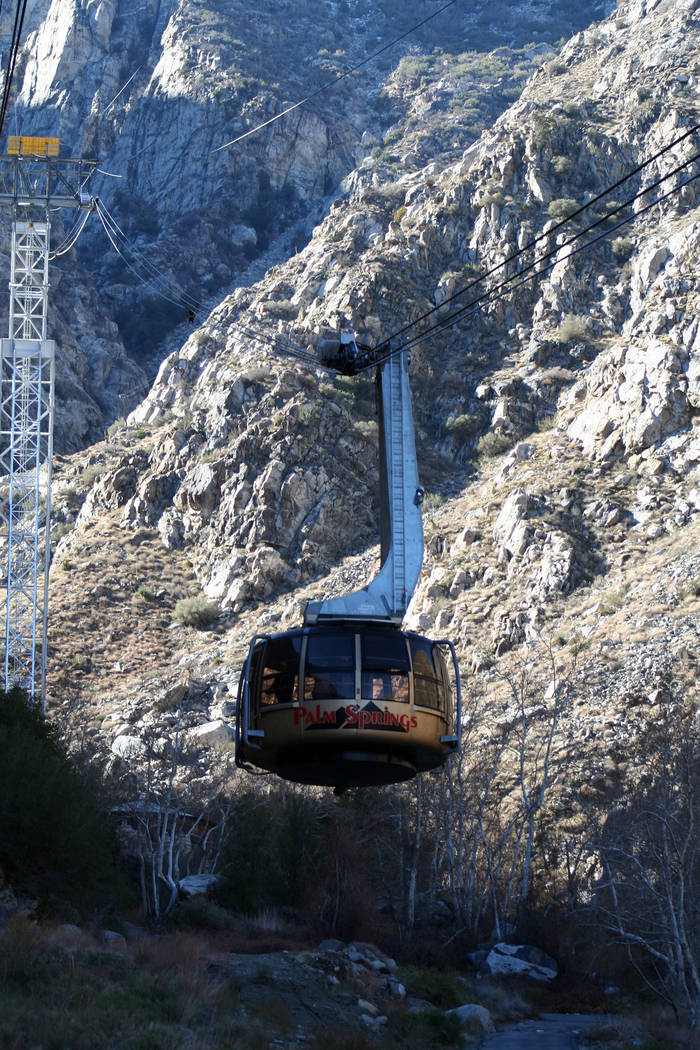 (Deborah Wall) The Palm Springs Aerial Tramway near the California city is the world's l ...