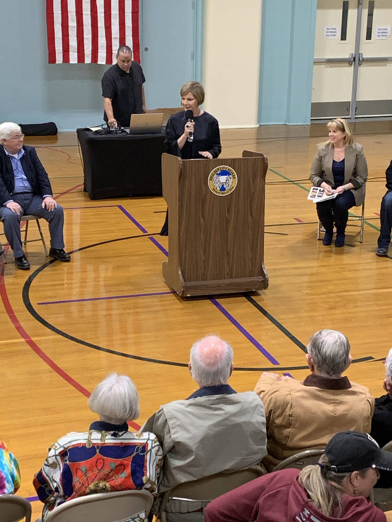 (Hali Bernstein Saylor/Boulder City Review) Rep. Susie Lee spoke about the city and her connect ...