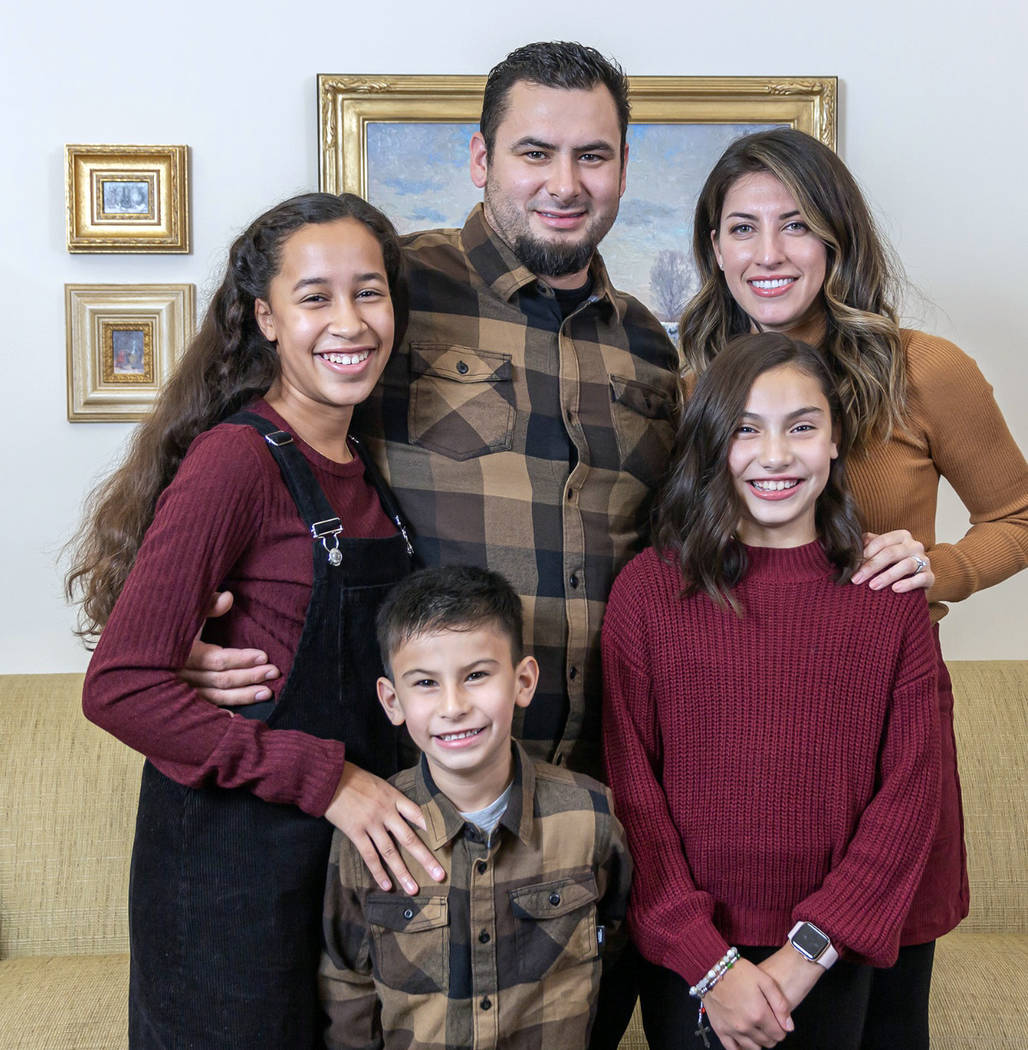 Marissa Giamanco The Boulder City community has rallied around the Giamanco family, in front, f ...