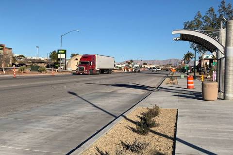 (Hali Bernstein Saylor/Boulder City Review) Work on the complete street project on Boulder City ...