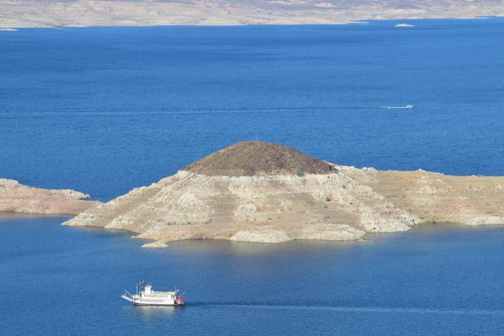(Celia Shortt Goodyear/Boulder City Review) The water level at Lake Mead is projected to be at ...